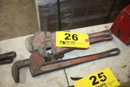 """(3) PIPE WRENCHES 12"""" - 16"""""""