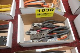 ASSORTED PLIERS & WIRE CUTTERS IN BOX