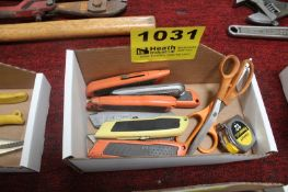 ASSORTED UTILITY KNIVES & SCISSORS IN BOX