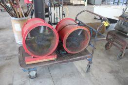 (2) AIR CIRCULATORS WITH CART