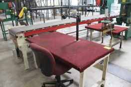 """STEEL FRAME WORKBENCH, 60"""" X 32"""" X 31"""" WITH ARTICULATING ARM"""