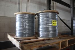 (4) SPOOLS OF WIRE, 1,500FT EACH, ON SKID