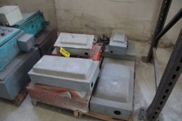 (10) ASSORTED SWITCHBOXES ON SKID