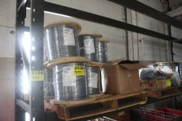 (12) SPOOLS OF WIRE, 1,500FT EACH, ON SKID