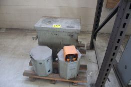 (3) ASSORTED TRANSFORMERS ON SKID