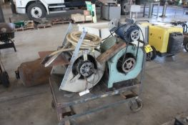(2) SQUIRREL CAGE BLOWERS WITH CART