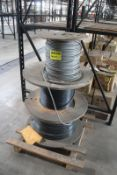 (3) SPOOLS OF ASSORTED WIRE ON SKID
