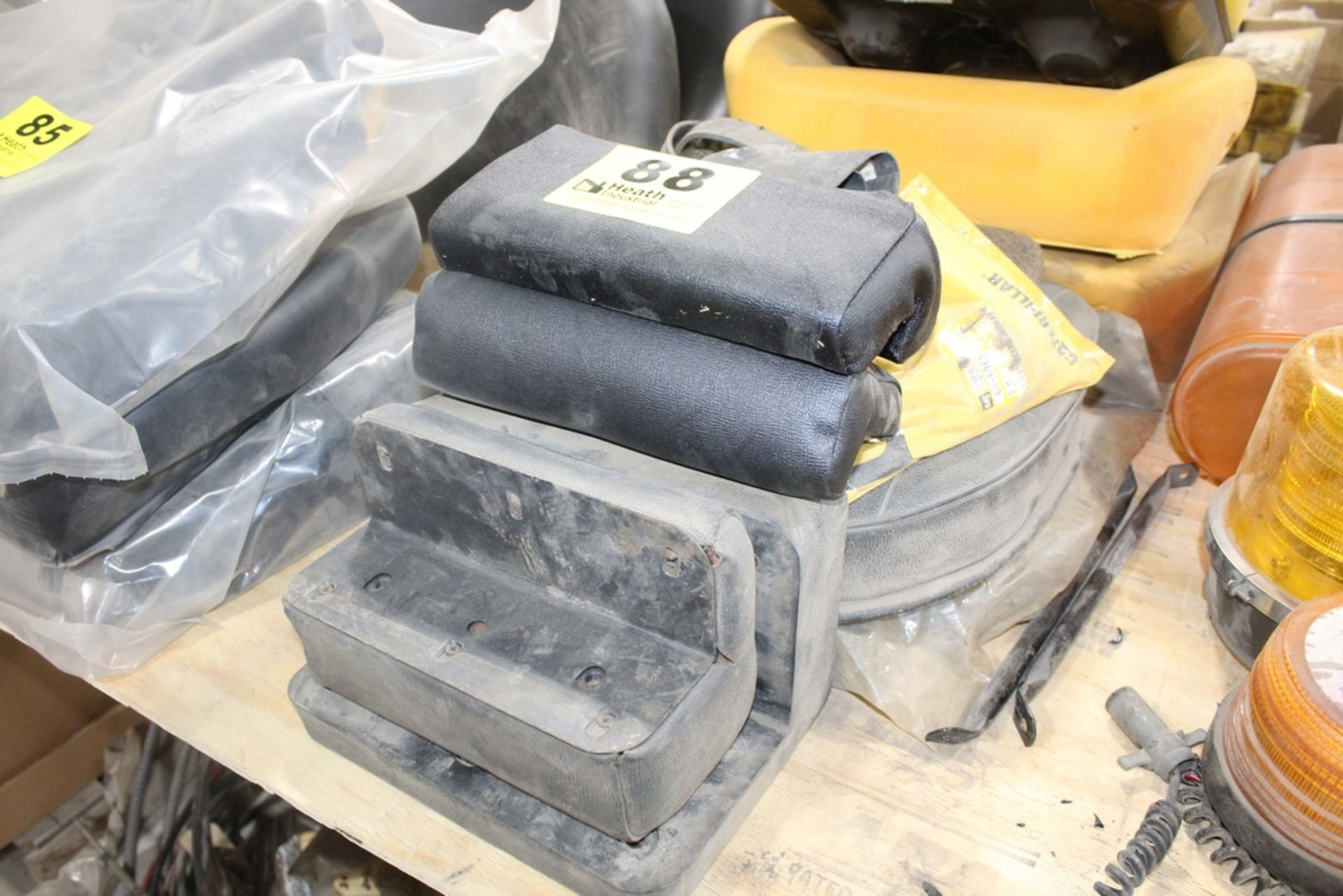 ASSORTED ARM RESTS AND SEAT CUSHIONS