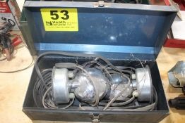 SET OF TEMPORARY TRAILER LIGHTS IN CASE