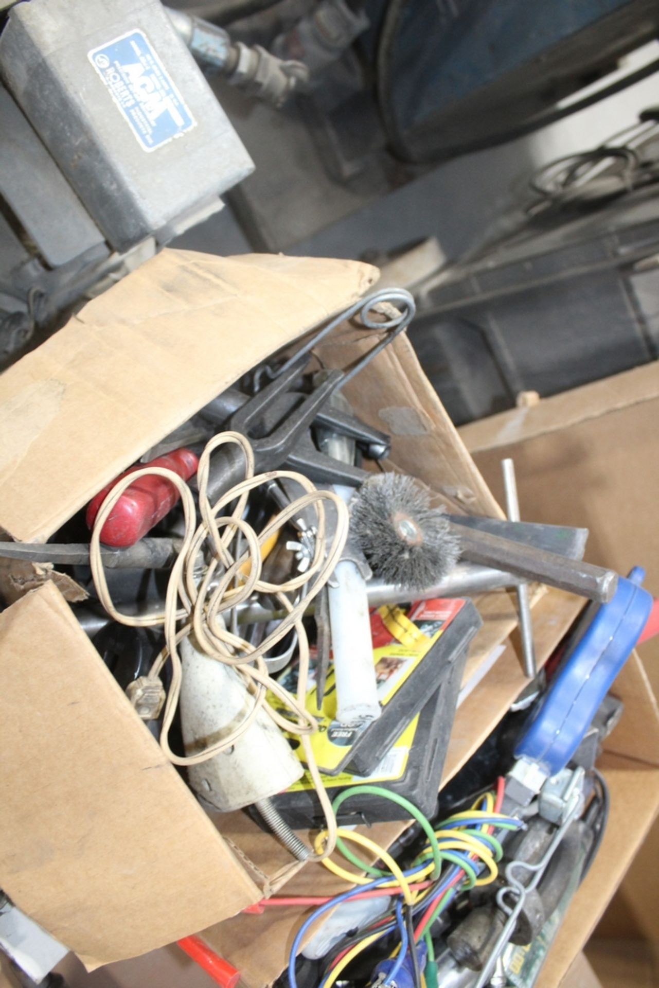 ASSORTED TOOLS IN BOX