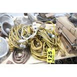 ASSORTED ELECTRIAL EXTENSION CORDS