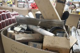 ASSORTED CATERPILLAR MUFFLERS AND PIPES