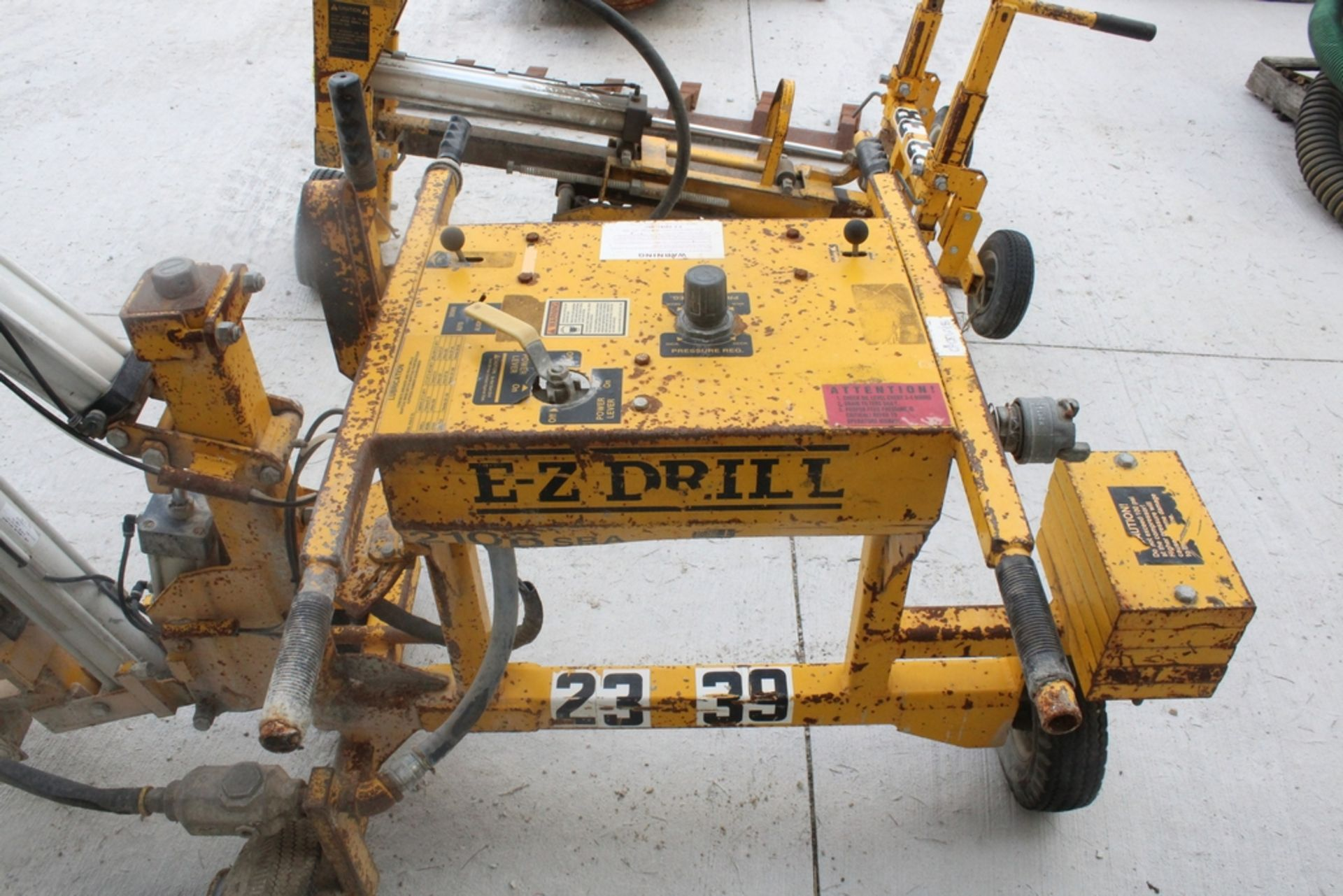 EZ-DRILL HORIZONTAL REBAR DRILL MODEL 210B, S/N 2075, WITH CORE DRILL ATTACHMENT - Image 5 of 5