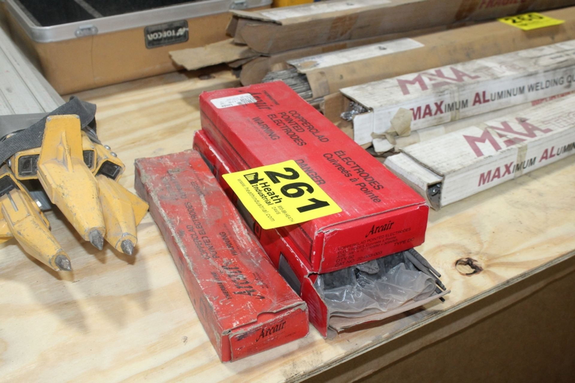 (3) BOXES OF ARCAIR COPPERCLAD POINTED ELECTRODES