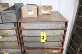 """LAWSON FOUR DRAWER PARTS CABINET, 15"""" X 20"""" X 17"""", WITH CONTENTS"""