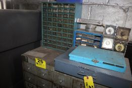 (2) SMALL PARTS CABINETS & (2) HARDWARE CONTAINERS