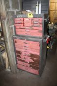 HOMAK PORTABLE TOOL CART WITH STAK ON TOOL BOX WITH CONTENTS