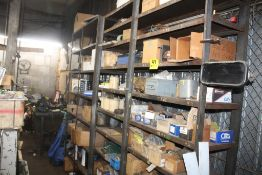 (2) STEEL SHELVING UNITS WITH CONTENTS (ASSORTED HARDWARE)