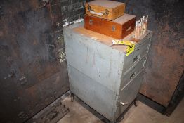 """24"""" X 18"""" X 34"""" PORTABLE STEEL CABINET WITH CONTENTS"""