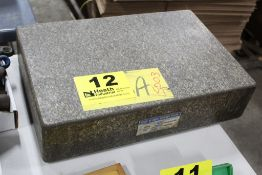 """ROCK OF AGES 18"""" X 12"""" X 4"""" GRANITE SURFACE PLATE TRUE G"""