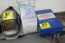 FIRST AID KIT & (2) BOXES OF PLASTIC BANDAGES