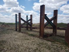 """STEEL I-BEAM STRUCTURE, APPROX 28' X 8' 10"""" X 10'"""