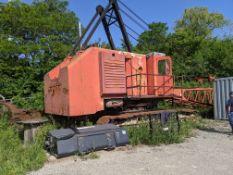"1965 (EST) MANITOWOC 3900 LATTICE BOOM CRAWLER CRANE, 80' BOOM, 40"" TRACKS, ENGINE REBUILT BY"