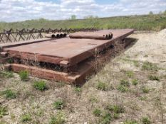 8' X 28' TRENCH BOX WITH (5) 6' SPREADER BARS HAS STEEL PLATE WELDED ON ENDS