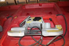 MILWAUKEE CAT NO. 6230 PORTABLE BANDSAW WITH CASE