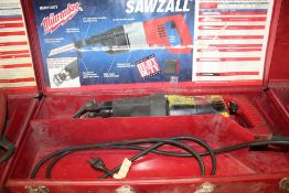 MILWAUKEE ELECTRIC SAWZALL WITH STEEL CASE