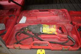 MILWAUKEE CAT NO. 6511 ELECTRIC SAWZALL WITH CASE