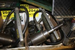 GREENLEE HYDRAULIC KNOCKOUT SET WITH 767A HAND PUMP AND DIES