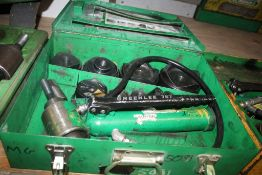 """GREENLEE 7310SB """"SLUGBUSTER"""" KNOCKOUT PUNCH SET FOR 1/2"""" THRU 4"""" CONDUIT WITH HYDRAULIC DRIVER"""
