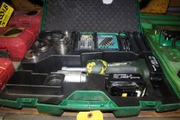 GREENLEE GATOR 18-VOLT CORDLESS KNOCKOUT SET WITH DIES, CASE, SPARE BATTERY, CHARGER