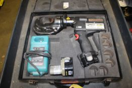 PANDUIT MODEL CT-2931 CORDLESS HYDRAULIC COMPRESSION TOOL, WITH CASE, SPARE BATTERY, CHARGER
