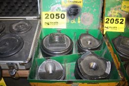 """GREENLEE KNOCKOUT PUNCH SET, 2-1/2 to 4"""""""