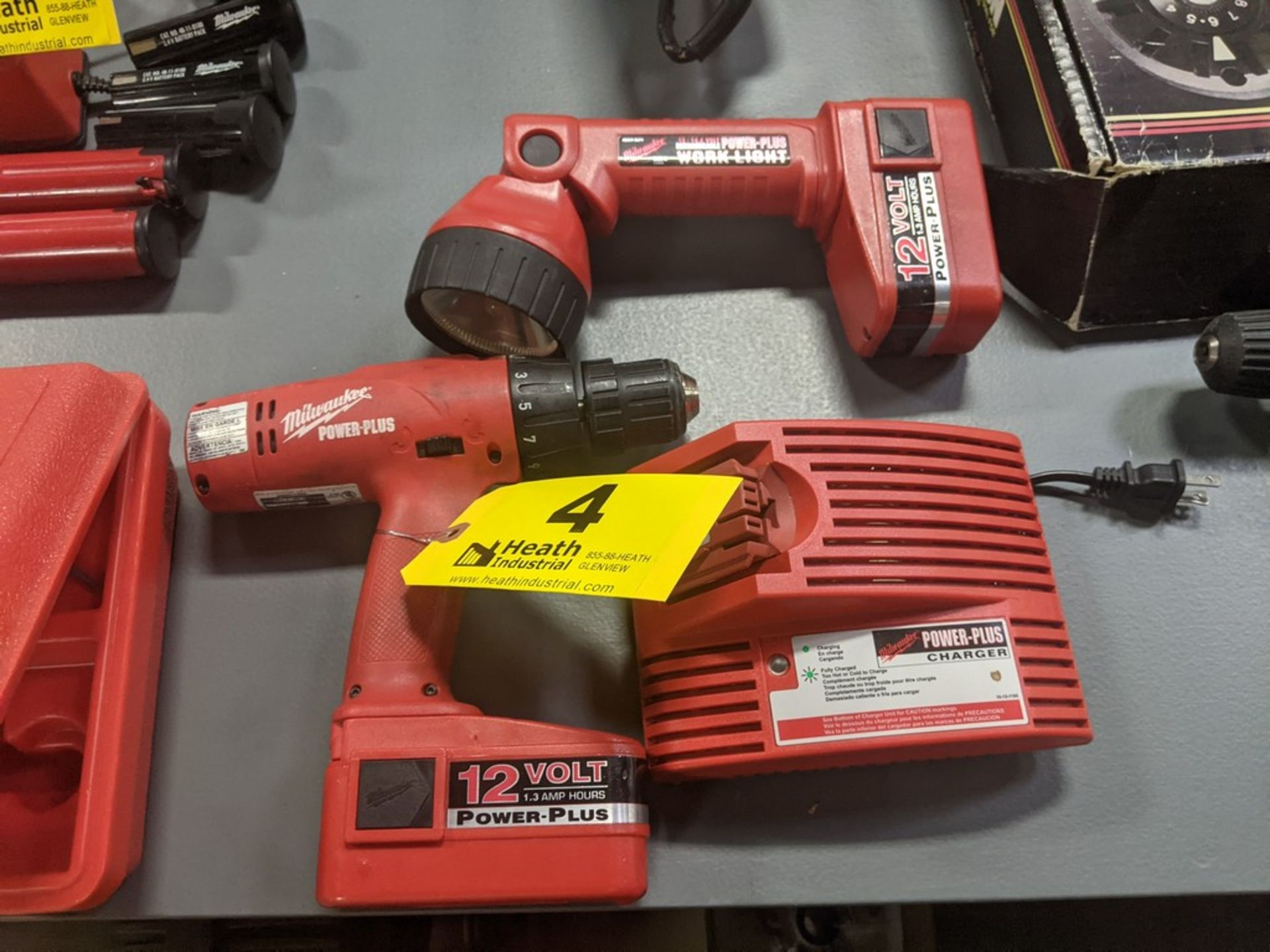 """MILWAUKEE 12V POWER PLUS 1/2"""" ELECTRIC DRILL, FLASHLIGHT & CHARGER"""