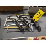 (5) ASSORTED HACK SAWS WITH BLADES