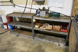 (2) ADJUSTABLE STEEL SHELVING UNITS WITH CONTENTS