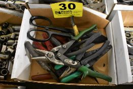 ASSORTED SHEARS, PLIERS & CRIMPERS IN BOX