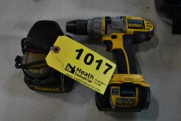 """DEWALT MODEL DCD970 XRP 1/2"""" CORDLESS 18V DRILL / DRIVER, WITH (2) BATTERIES & CHARGER"""