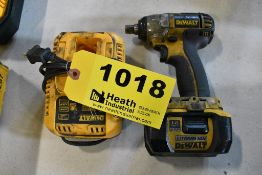 """DEWALT MODEL DC820 18 VOLT CORDLESS 1/2"""" IMPACT WRENCH WITH (1) BATTERY & CHARGER"""