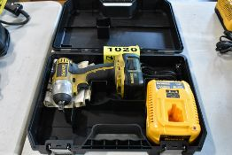 """DEWALT MODEL DC820 18 VOLT CORDLESS 1/2"""" IMPACT WRENCH WITH (1) BATTERY & CHARGER, CASE"""
