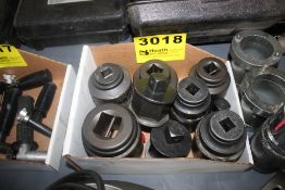 """ASSORTED LARGE SOCKETS, 3/4"""" - 1-1/2"""" DRIVE"""