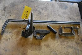 (3) ASSORTED CLAMPS