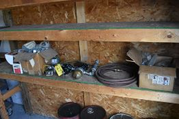 CONTENTS OF SHELF: OUTLET BOXES, AIR SEPARATOR, PNEUMATIC HOSE