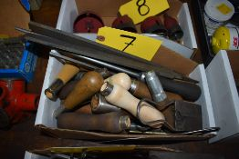 ASSORTED FILES, BRUSHES & HANDLES