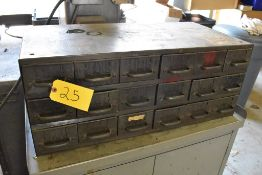 EIGHTEEN DRAWER PARTS CABINET WITH ASSORTED SPRINGS