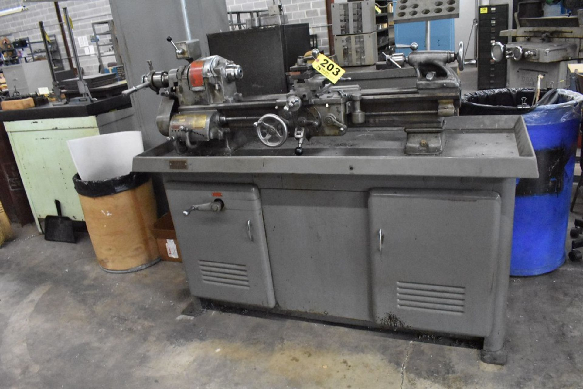 """SOUTH BEND 10""""X30"""" CABINET BASE TOOL ROOM LATHE, S/N 16711RKX12, WITH COLLET CLOSER, 4-WAY TOOL - Image 3 of 13"""