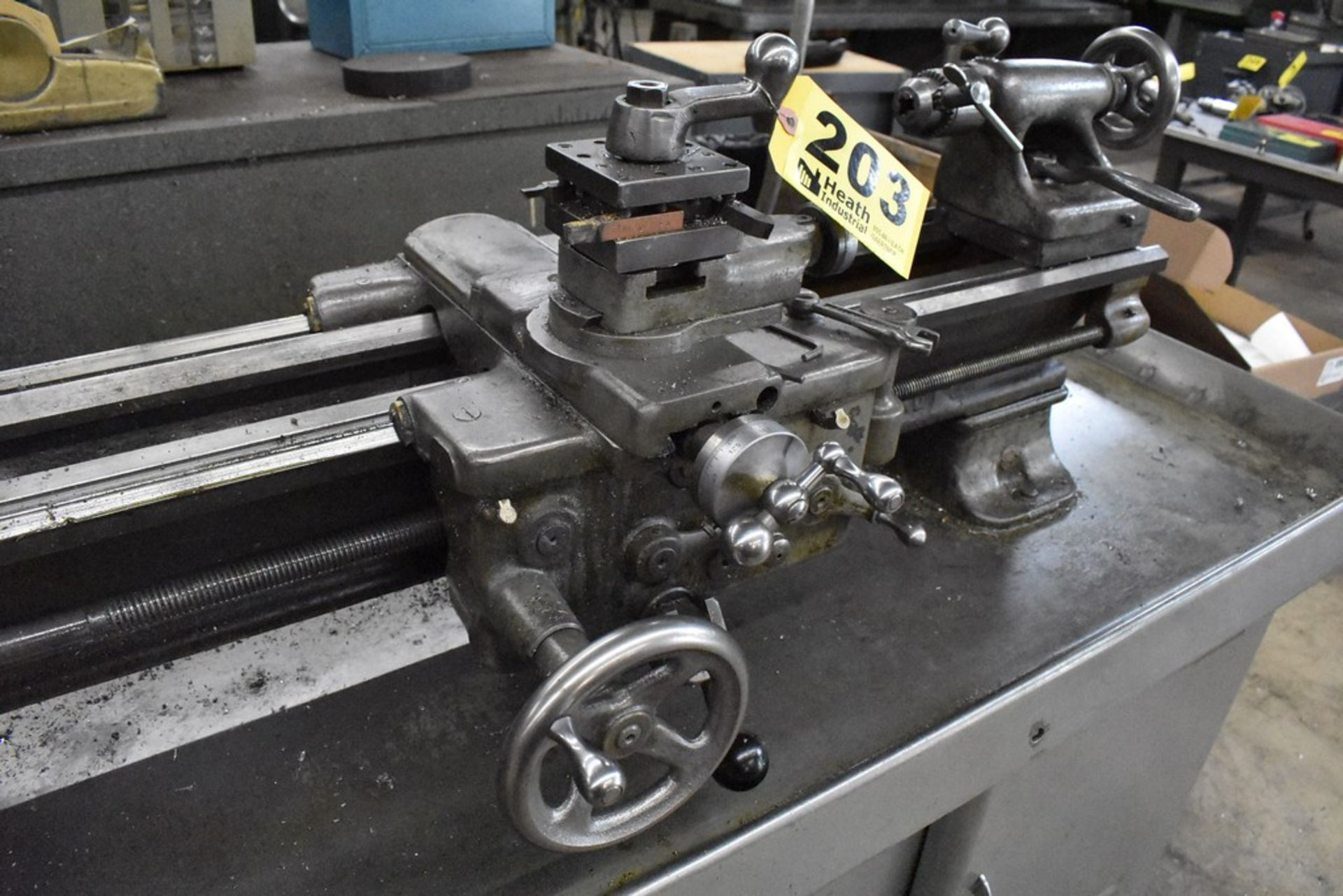 """SOUTH BEND 10""""X30"""" CABINET BASE TOOL ROOM LATHE, S/N 16711RKX12, WITH COLLET CLOSER, 4-WAY TOOL - Image 10 of 13"""